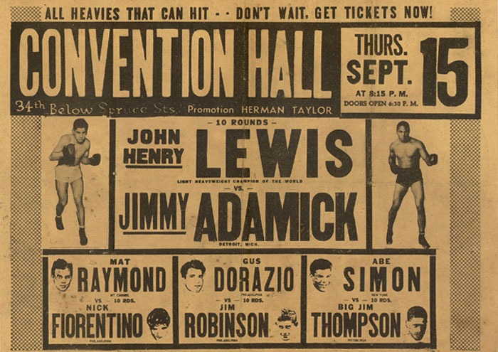 Philly boxing history vintage posters