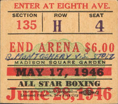 Philly Boxing History Boxing Tickets 1940s